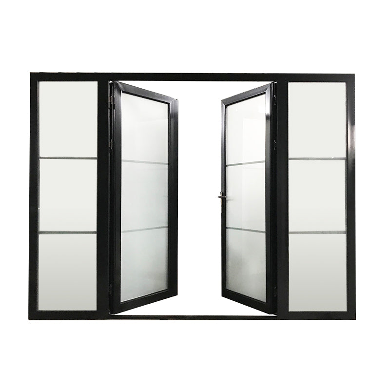 ultra clear tempered glass two- fixed casement doorby Doorwin on Alibaba