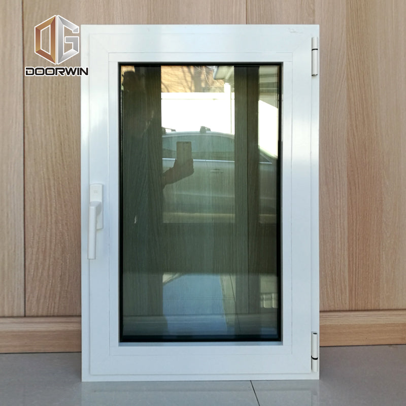 tilt turn window with fixed mosquito net-21 white (interior)black(exterior)thermal break aluminum