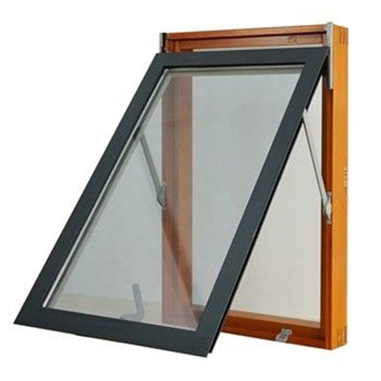 wood basement windows push out double glazing casement window by Doorwin