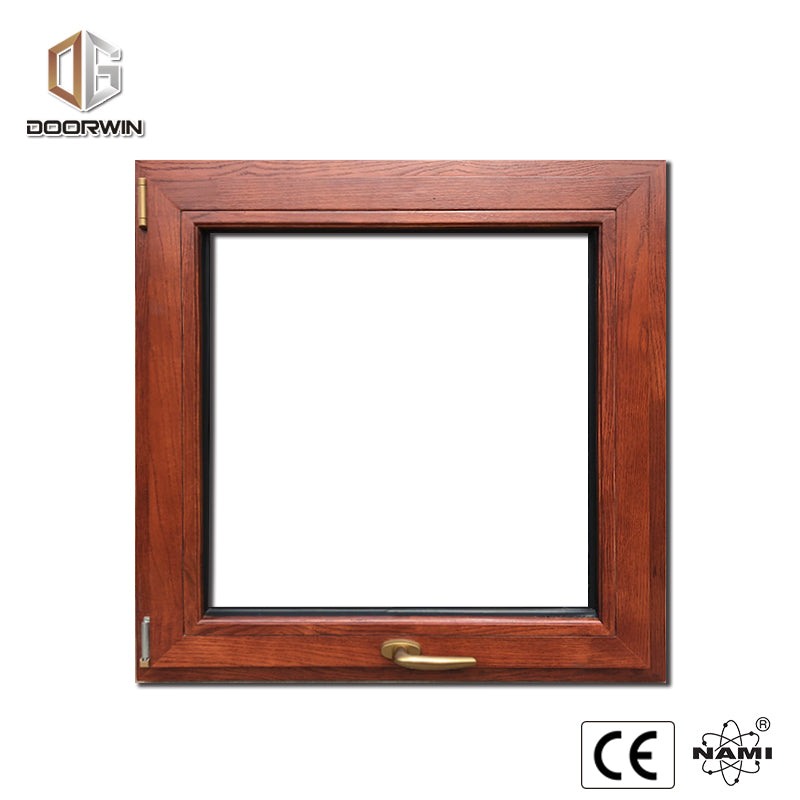 OAK WOOD CLAD THERMAL BREAK ALUMINUM  TILT TURN WINDOW