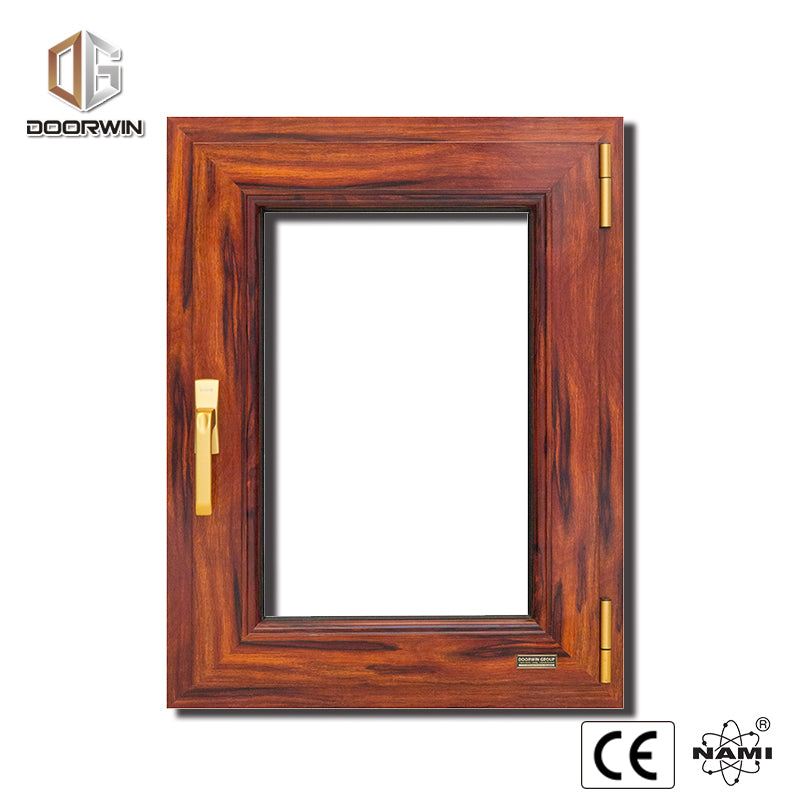 wood grain aluminum window
