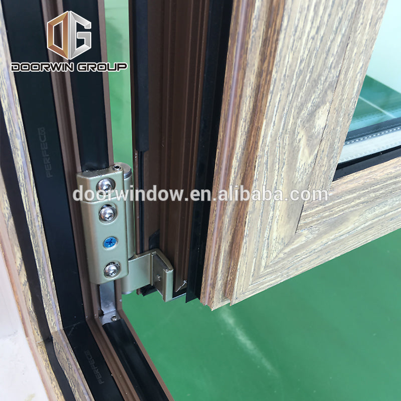 wooden grain finish aluminum swing tilt and turn windows with factory price
