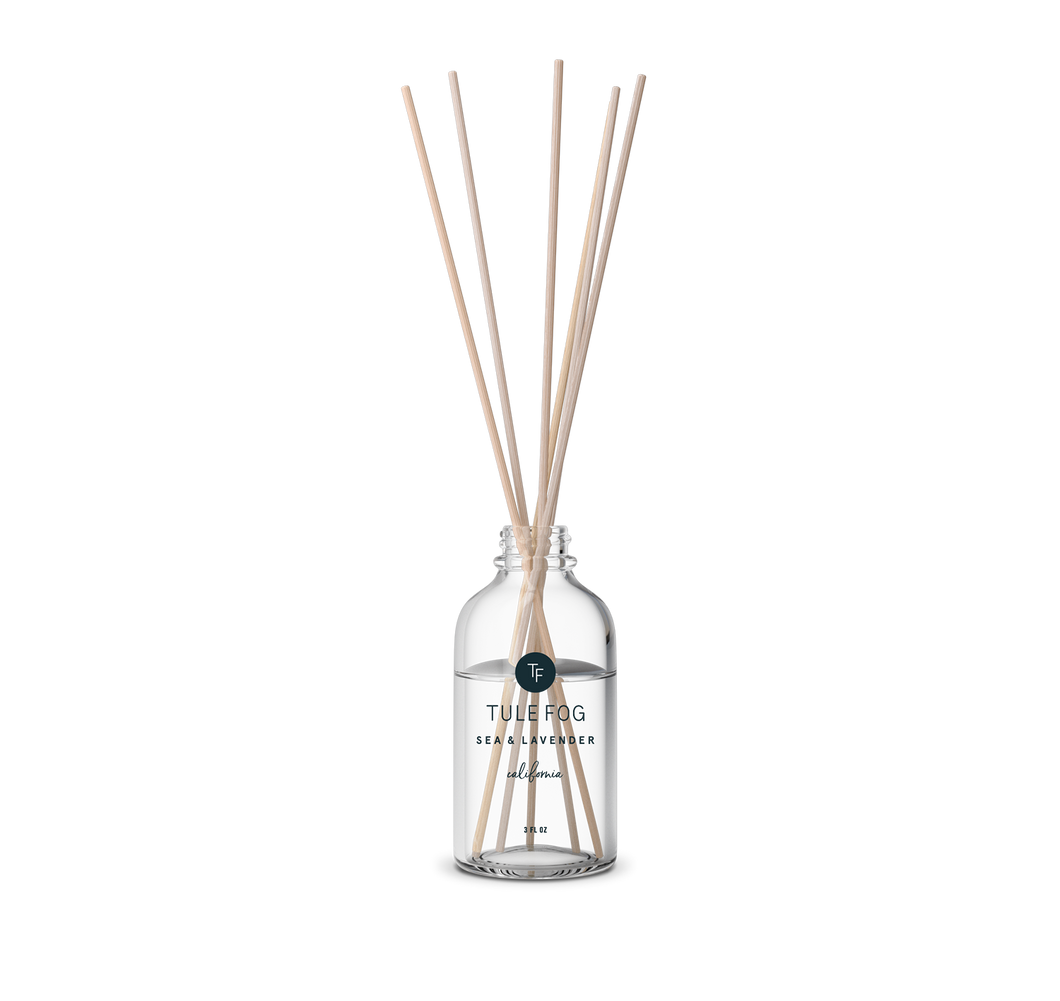 Tule Fog Candles - Sea + Lavender - Reed Diffuser - 3fl oz