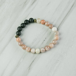 Love N' Lava Designs - Sunstone Essential Oil Diffuser Bracelet