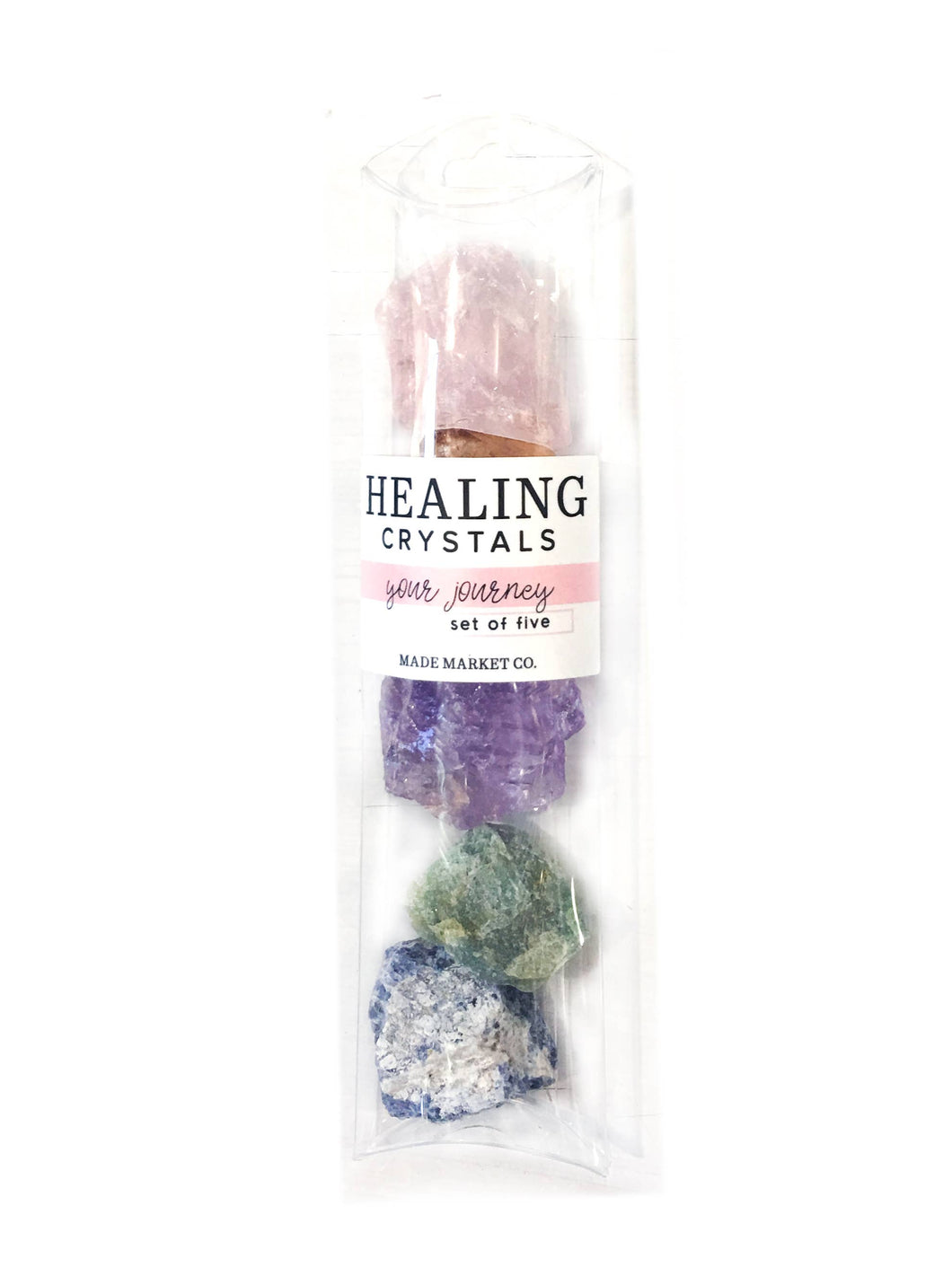 Raw Healing Crystals Set