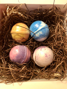 Set of 4 All Natural Bath Bombs