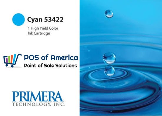 PRIMERA Cyan Color Ink Cartridge, High-Yield 53422 - POS OF AMERICA