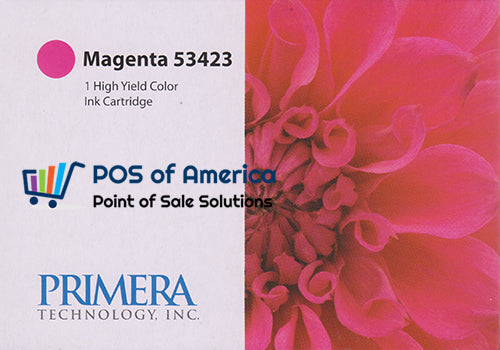 Primera Magenta Color Ink Cartridge, High-Yield 53423 - POS OF AMERICA