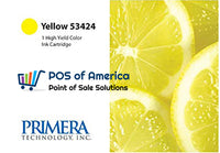 Primera Yellow Color Ink Cartridge, High-Yield 53424 - POS OF AMERICA