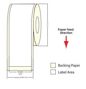 "TM-C3500 3.4"" x 100 ft Matte Paper Label Roll 812003 - POS OF AMERICA"