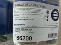 086200	HID, FARGO DTC550 RIBBON, YMCKO, 500 IMAGES. - POS OF AMERICA