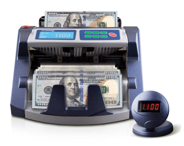 AccuBanker AB1100PLUSMGUV Commercial Digital Bill Counter + MG and UV Detection 110v - POS OF AMERICA