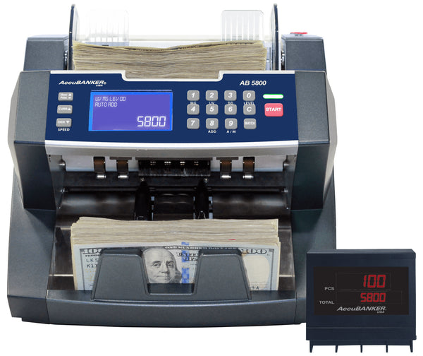 Accubanker Bank Grade Batch Value Bill Counter AB5800 - POS OF AMERICA