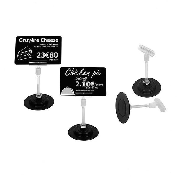 Edikio EVOLIS, MAGNETIC SPIKE TICKET STANDS, 80MM HIGH, 1 SET OF 25 - POS OF AMERICA