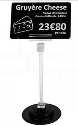 EDIKIO EVOLIS, MAGNETIC PRICE TICKET STANDS, 120MM HIGH, 1 SET OF 25 - POS OF AMERICA