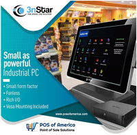 Aldelo 3nStar POS Bundle i3 8GB 240GB SSD Touchmonitor + MiniPC Windows 10 - POS OF AMERICA