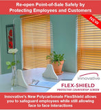 "Innovative Flex-Shield 24"" wide x 30"" tall - POS OF AMERICA"