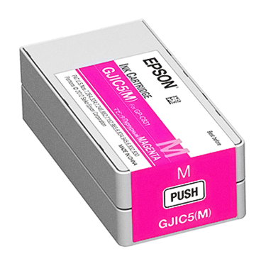Genuine Epson GJIC5 (M) Magenta Pigment Ink Cartridge for TM-C831 C13S020565 - POS OF AMERICA