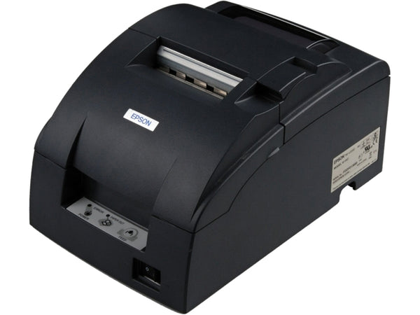 EPSON, TM-U220B, DOT MATRIX RECEIPT PRINTER, COMPACT FLASH WIRELESS 802.11A/B/G/N (R04), EPSON DARK GRAY, AUTOCUTTER, POWER SUPPLY INCLUDED C31C514A8071 - POS OF AMERICA