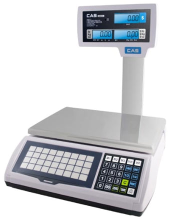 S2000JR15L  CAS CORP, SCALE 15LB, LCD WITH TOWER - POS OF AMERICA