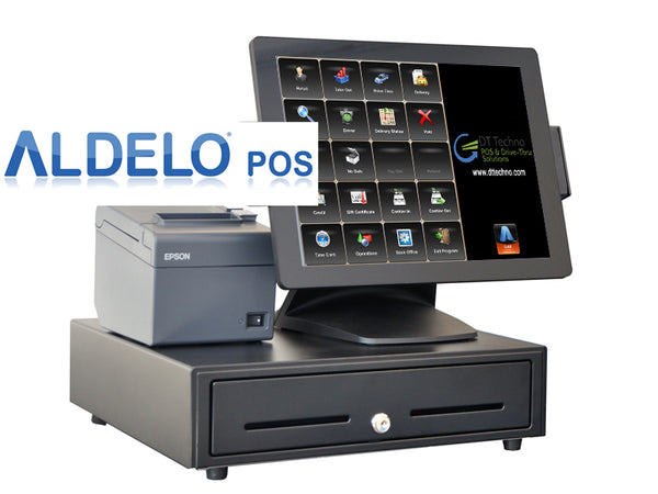 "TOUCH DYNAMIC, PULSE ULTRA WITH 15"" PCAP TOUCH SCREEN INTEL CELERON J3455 2.3G FANLESS, 4 GIG RAM, 128 GIG SSD, WIN 10 IOT (64 BIT), MSR Bundle with Printer, Cash Drawer and Aldelo POS PRO - POS OF AMERICA"