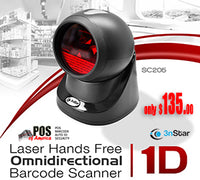 3nStar 1D Laser Hands Free Omni-directional Barcode Scanner (SC205) - POS OF AMERICA