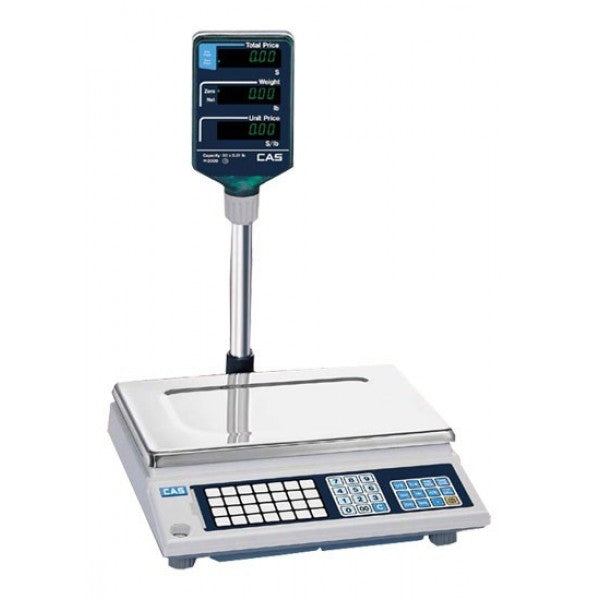CAS AP-1 PRICE COMPUTING RETAIL SCALE WITH 200 PLUS 60Lb - POS OF AMERICA
