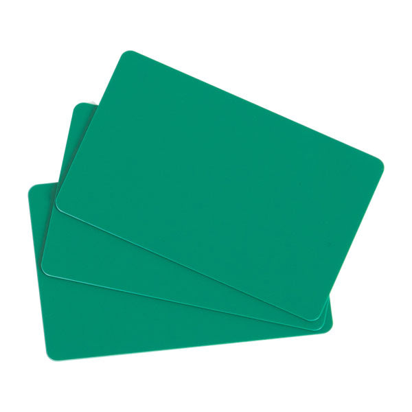 C4401 EVOLIS, PVC BLANK CARDS - GREEN - 30MIL - 1 PACK OF 100 CARDS - POS OF AMERICA