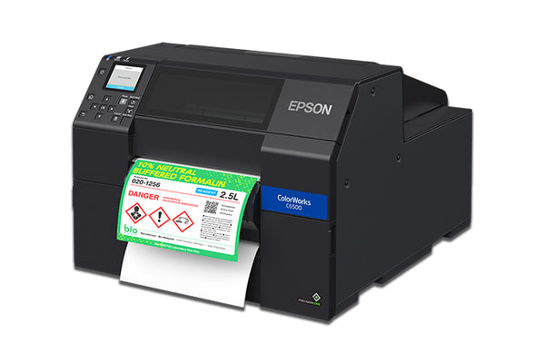 Epson ColorWorks CW-C6500P Color Inkjet Label Printer with Peel-and-Present C31CH77201 - POS OF AMERICA