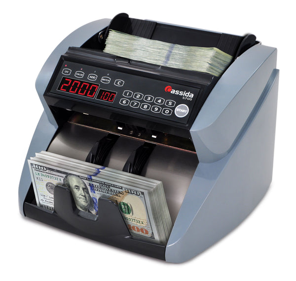 Cassida 5700 UV with ValuCount Professional Bill Counter - POS OF AMERICA