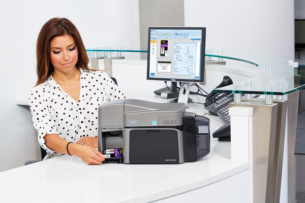 HID FARGO, DTC1250E BASE MODEL(NA), SINGLE SIDED PRINTER WITH USB CONNECTION, 3 YEAR WARRANTY  50000 - POS OF AMERICA