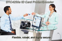 HID FARGO, DTC4250E PRINTER, DUAL SIDED, ETHERNET AND USB, PRINT SERVER, THREE YEAR WARRANTY. 52100 - POS OF AMERICA