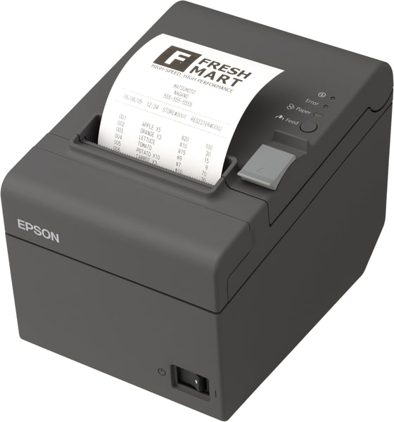 Epson TM-T20II Receipt Printer, Dark Grey with Power Supply, Serial, USB Interfaces C31CD52062 - POS OF AMERICA