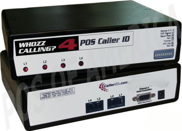 Caller ID Whozz Calling POS (Basic) for pcAmerica 4 Lines - POS OF AMERICA