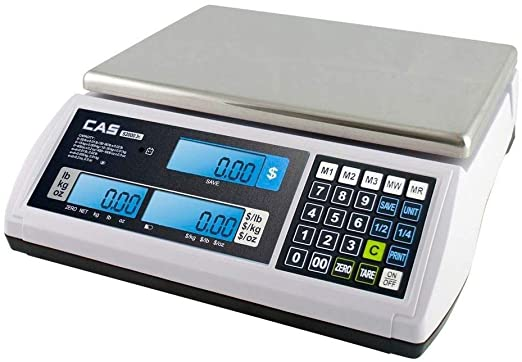 S2JR-15L CAS CORP, S-2000 JR, PRICE COMPUTING SCALE, 15LB With LCD Display - POS OF AMERICA