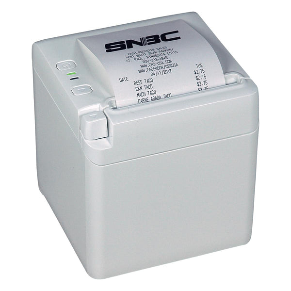 SNBC BTP-S80 Thermal Printer - White Cabinet (USB/Serial/Ethernet) - POS OF AMERICA