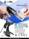 3nStar 2D USB Handheld Barcode Scanner with Base and Autosense (SC410) - POS OF AMERICA