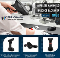 3nStar Wireless Handheld Barcode Scanner 2D with USB Base (SC440) - POS OF AMERICA