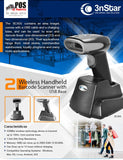 3nStar Wireless Handheld Barcode Scanner 2D with USB Base SC455 - POS OF AMERICA
