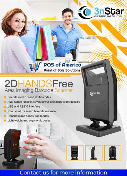 3nStar 2D Hands Free Area-Imaging Scanner (SC500) - POS OF AMERICA