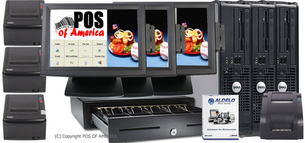 Aldelo Restaurant 3 POS Stations PRO Edition - POS OF AMERICA