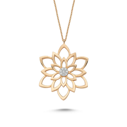 DAHLIA FLOWER NECKLACE