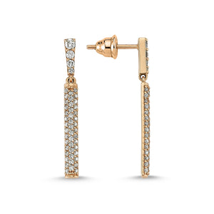BAR DIAMOND EARRINGS
