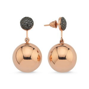 BLACK DIAMOND BAUBLE EARRINGS