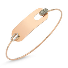 Load image into Gallery viewer, WHITE & COGNAC PLATE BANGLE