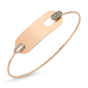 WHITE & COGNAC PLATE BANGLE