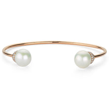 Load image into Gallery viewer, PEARL & WHITE DIAMOND CUFF