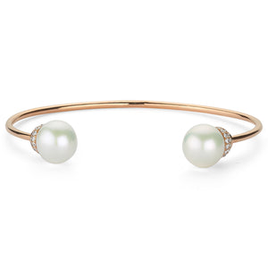 PEARL & WHITE DIAMOND CUFF