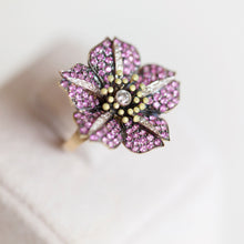 Load image into Gallery viewer, BLOOM RING WITH DIAMONDS & PINK SAPPHIRE