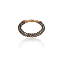 Load image into Gallery viewer, COGNAC DIAMOND PAVE RING HALF TURN